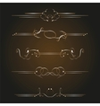 golden ornate page vector image