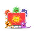 computer virus internet security vector image
