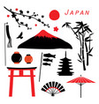 japan travel icon vector image