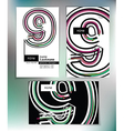 Business card design with number 9 vector image