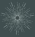 Hand Drawn vintage bursting rays - design elements vector image