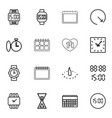 16 time icons vector image vector image