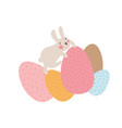adventures of easter bunnies who are looking for vector image