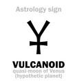 astrology vulcanoid satellite vector image vector image