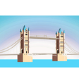 beautiful bridge vector image