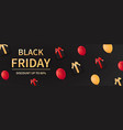 black friday card or poster template vector image