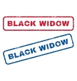 Black Widow Rubber Stamps vector image