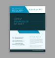 blue modern company brochure design vector image vector image