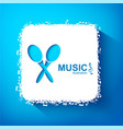 bright musical template vector image vector image