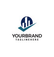 building checkmark logo template design vector image vector image