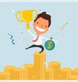 business cartoon character success vector image