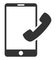 call smartphone flat icon vector image vector image