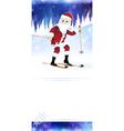 Cheerful Santa Claus on skis vector image
