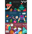 Christmas cards flat design vector image vector image
