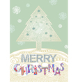 Christmas tree Christmas Card vector image