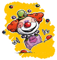 Clown Juggling vector image vector image