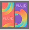 Colorful geometric background fluid shapes