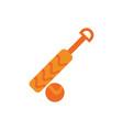 cricket bat and ball sport australia icon on white vector image