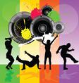 dancing people with speaker vector image