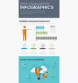 data visualization infographic modern human infog vector image