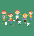 dental children treatment vector image