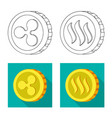 design of cryptocurrency and coin sign set vector image
