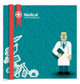 doctor background vector image vector image