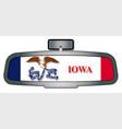 driving through iowa vector image vector image