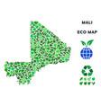 ecology green mosaic mali map vector image vector image