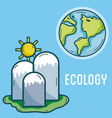 ecology green world concept vector image