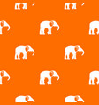 elephant pattern orange vector image vector image