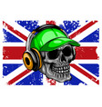 england flag with skull design vector image vector image