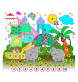 exercise for young children need to find the vector image vector image