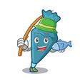 fishing pastrybag mascot cartoon style vector image vector image