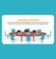 flat round table for business meeting vector image vector image