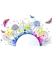 floral background with flowers eps 10 vector image vector image