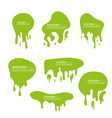 goo dripping splodges vector image