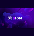gradient fluid background design layout for banner vector image vector image