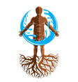 graphic of muscular human individual created with vector image vector image