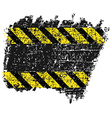 grungy background texture with black and yellow vector image vector image