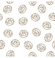 Hand drawn donut seamless pattern vector image