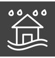 Heavy Rain and Flood vector image vector image