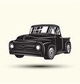 hot rod pickup icon isolated on white background vector image