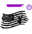 hunting american flag deer and antlers vector image vector image
