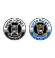 ice hockey championship circle badge vector image