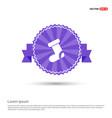 icon socks - purple ribbon banner vector image vector image