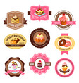 icons set for pastry dessert cakes vector image vector image