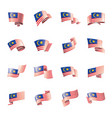 malaysia flag on a white vector image