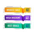 memphis style modern sale banners set vector image vector image