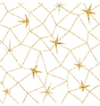 mosaic geometric seamless pattern 3d gold white 3 vector image vector image